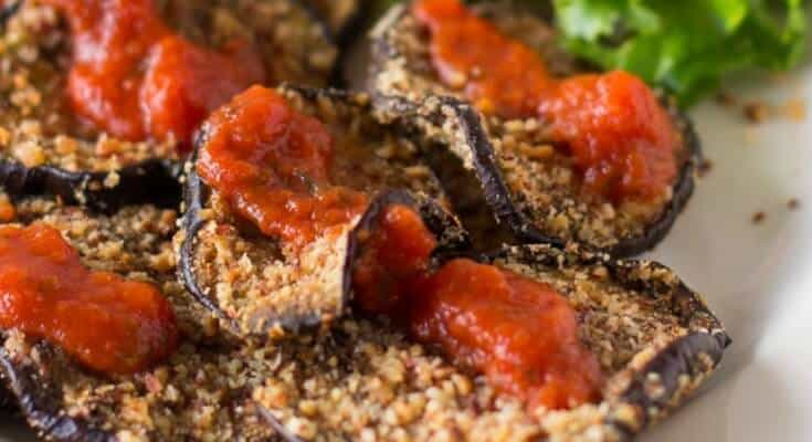 Almond-Crusted Baked Eggplant