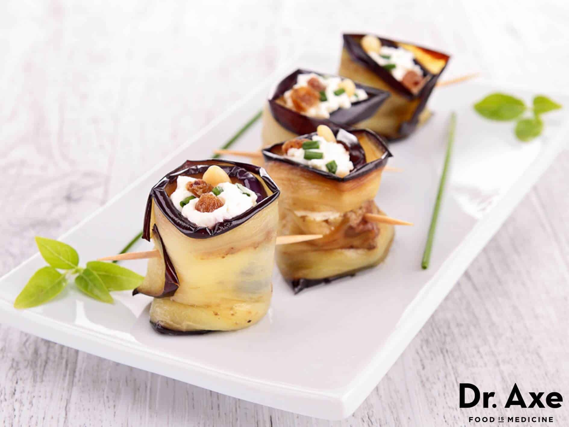 Eggplant-Wrapped Goat Cheese appetizer