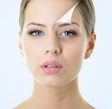 anti-aging woman's face