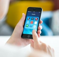 Smart phone with Health And Fitness Apps