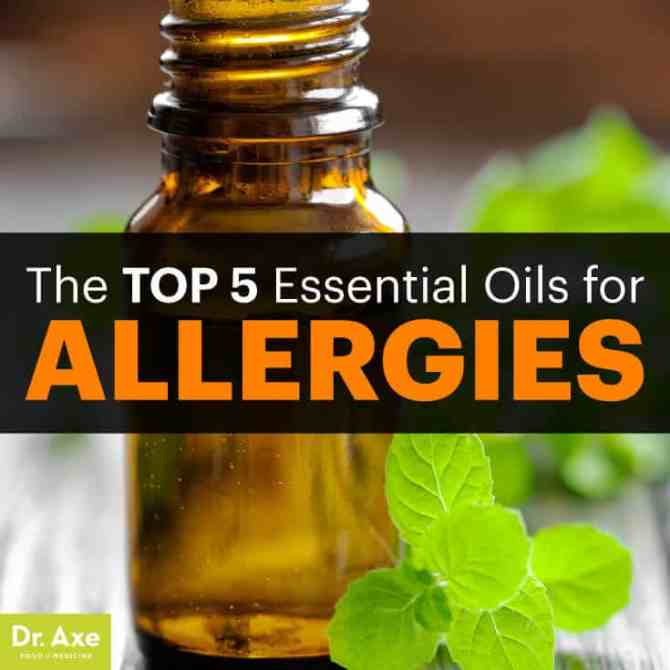 Essential oils for allergies - Dr. Axe