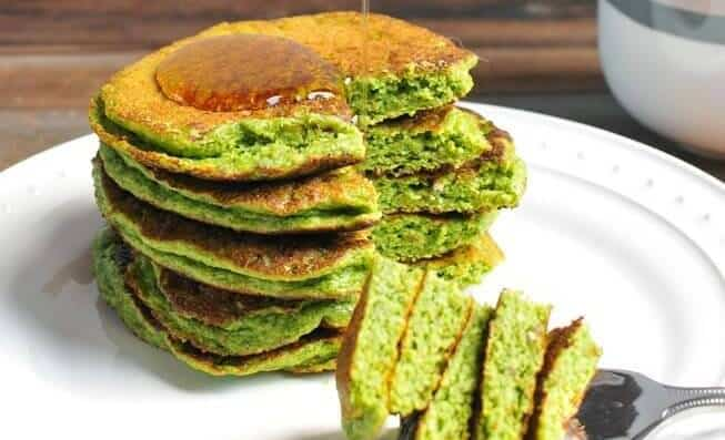 Green Smoothie Pancakes