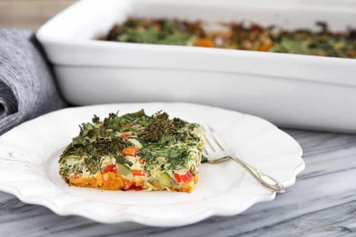 Vegetarian egg casserole recipe - Dr. Axe
