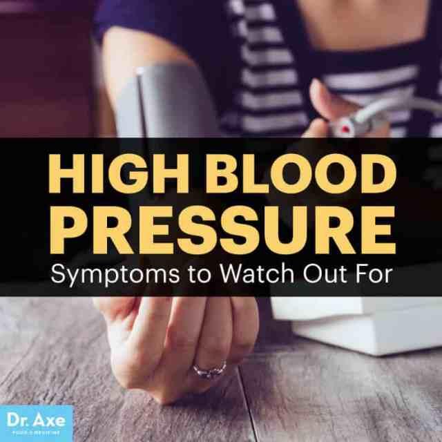 High blood pressure symptoms - Dr. Axe