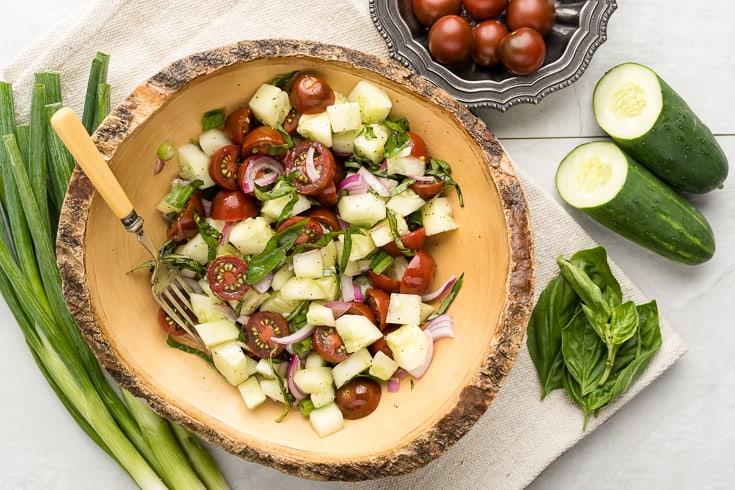 Cucumber salad recipe - Dr. Axe