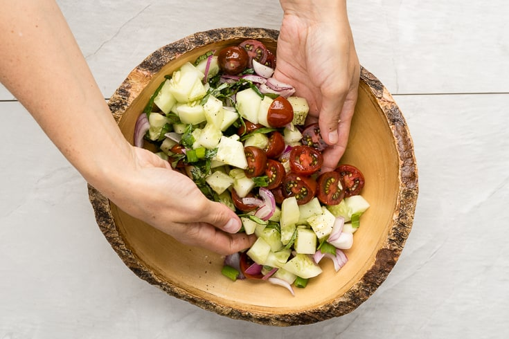 Cucumber salad recipe step 7 - Dr. Axe