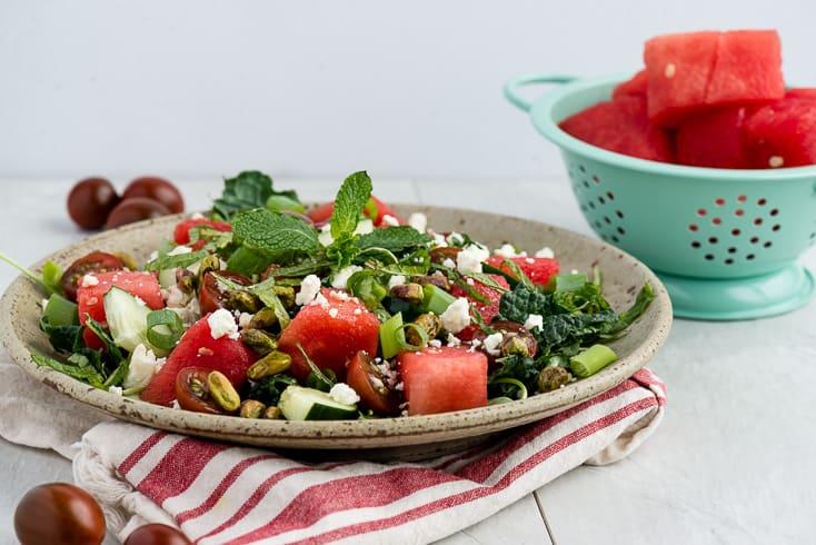 Watermelon feta salad recipe - Dr. Axe