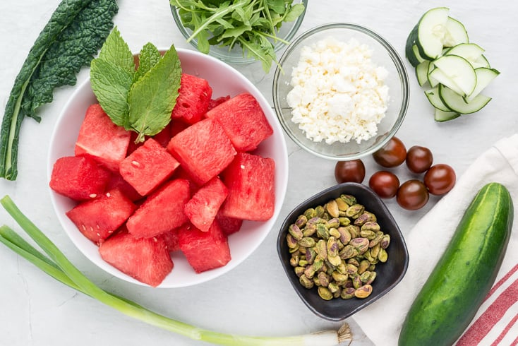 Watermelon feta salad ingredients - Dr. Axe
