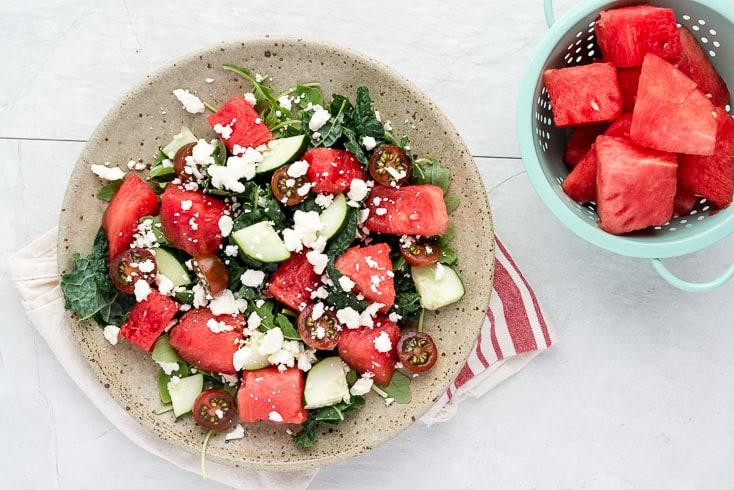 Watermelon feta salad step 4 - Dr. Axe