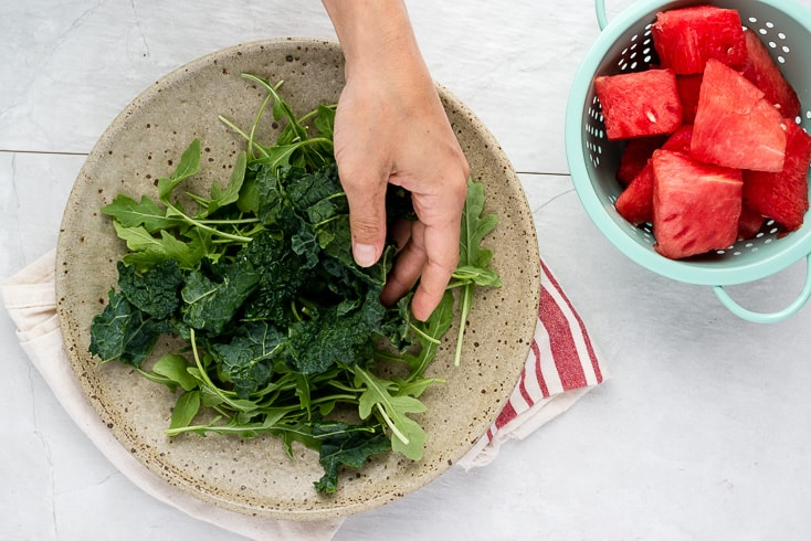Watermelon feta salad step 1 - Dr. Axe