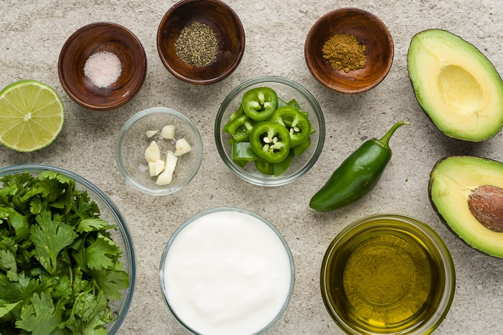 Cilantro lime dressing ingredients - Dr. Axe