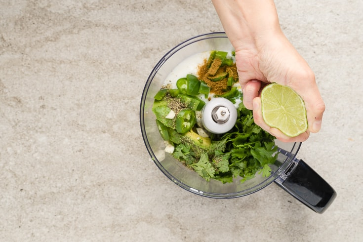 Cilantro lime dressing step 3 - Dr. Axe