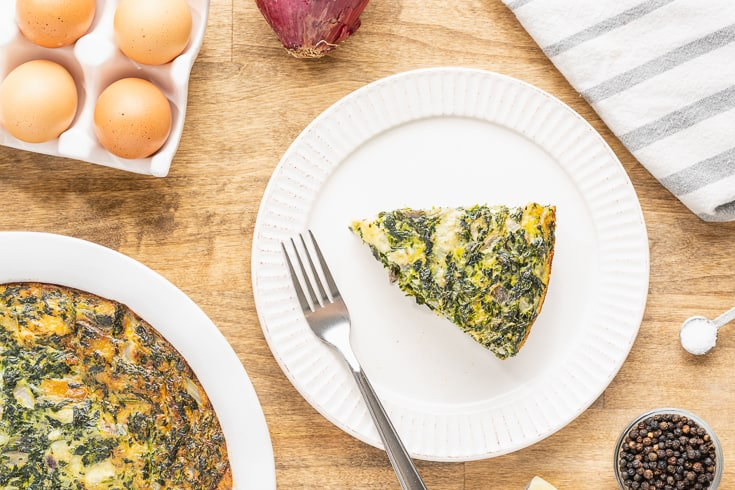 Crustless spinach quiche recipe - Dr. Axe
