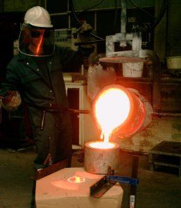 Pouring Aluminium Bronze (C95800, AB2)