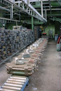 Aluminium Castings on uk production line