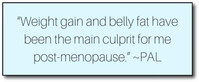 weight loss after menopause - quote 1