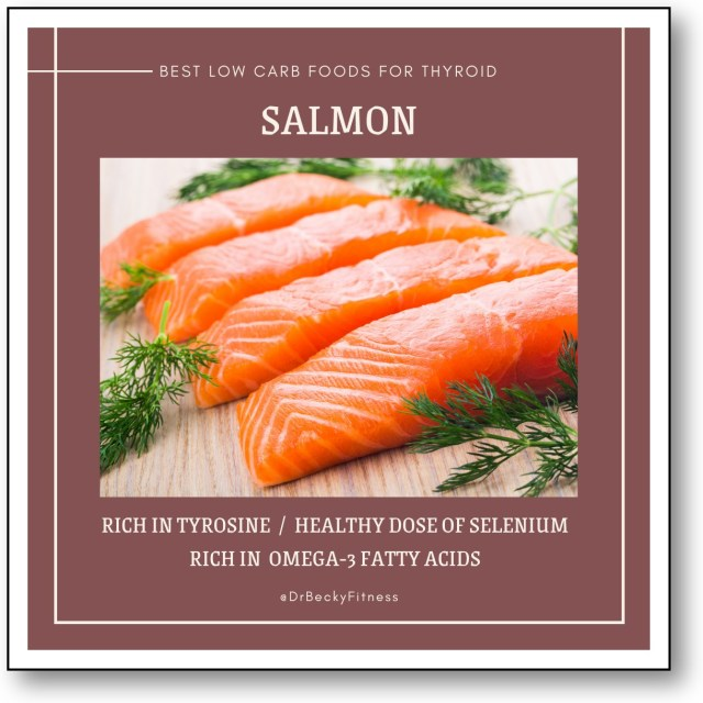 SALMON low carb food for thyroid