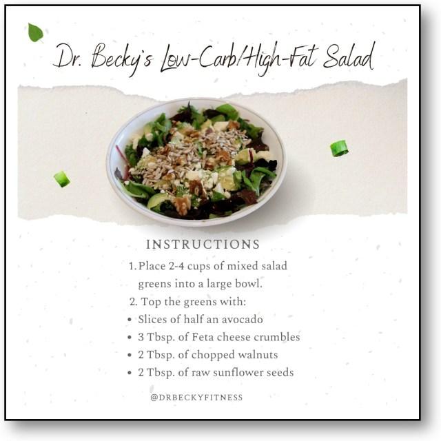 low carb/high fat salad