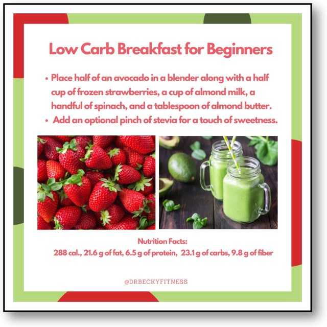 low carb breakfast for beginners