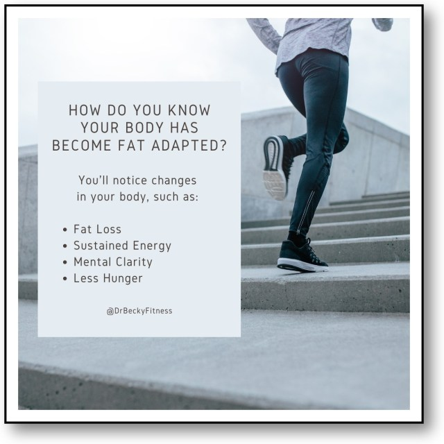 How do you know that your body has become fat adapted?
