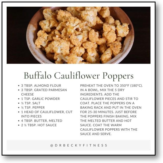Breaded Snack Swap: Buffalo Cauliflower Poppers