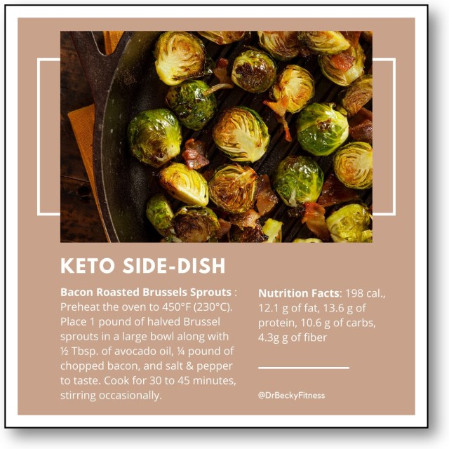 Keto Side Dish recipe: Bacon Roasted Brussels Sprouts