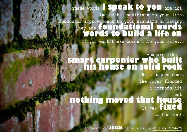 Words from Matthew's Gospel