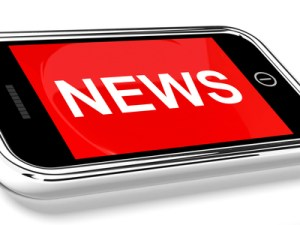 News Headline On Mobile Phone For Online Information Or Media