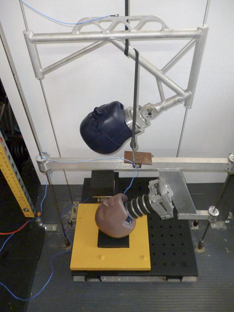 Dr. John Lloyd-biomechanics laboratory modified helmet test