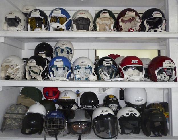Dr. John Lloyd-biomechanics laboratory helmets