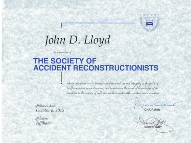 John Lloyd SOAR motorcycle accident expert witness