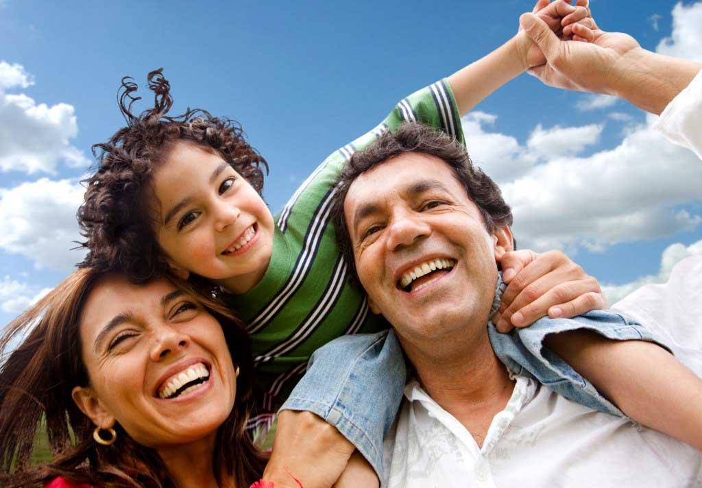 happy family portrait