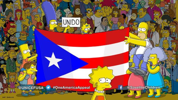 Simpsons support Puerto Rico