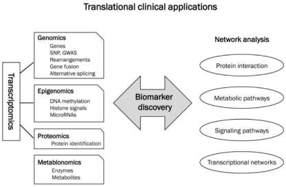 translational clinical applications, including genomics, epigenomics, proteomics, metablonomics, and network analysis