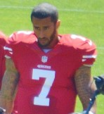 Colin Kapernick with number 7 49ers jersey