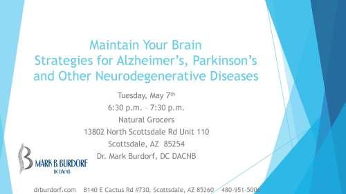 Help for Alzheimer's Parkinson's Disease