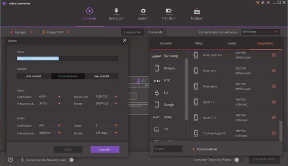 Descargar y convertir vídeos