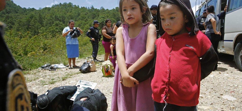 Kids at the border
