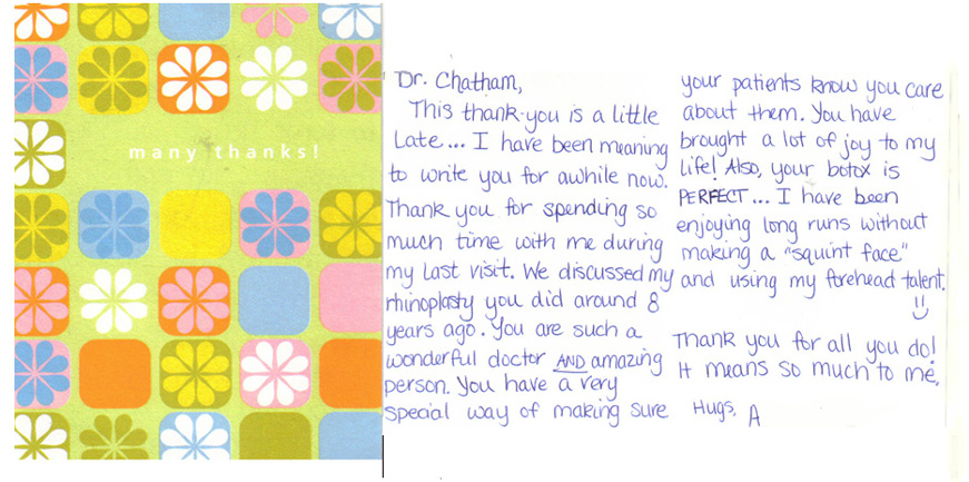 Testimonial Card from client