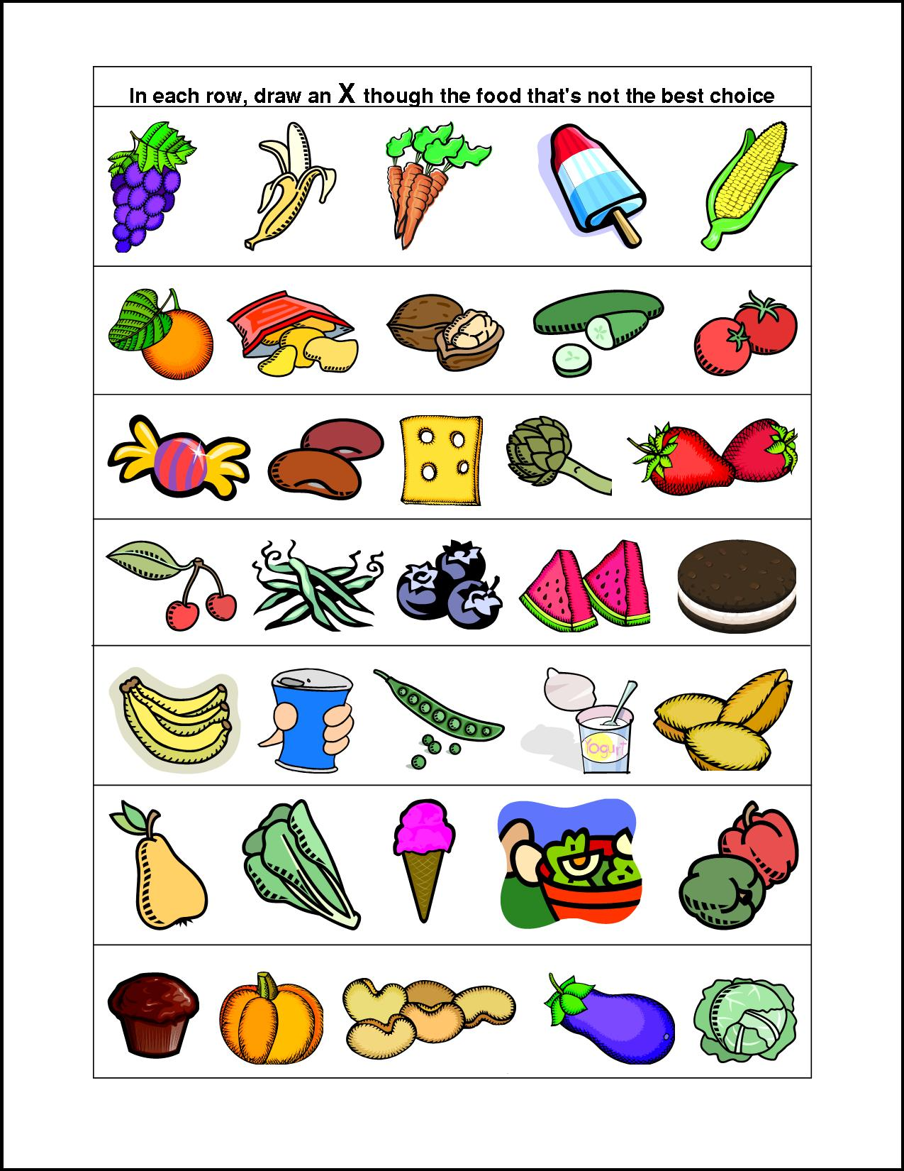 Healthy Eating Worksheets Kids