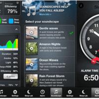 Mobile app to track sleep