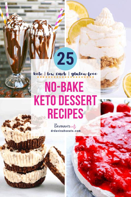 Easy Low Carb Keto No Bake Desserts Dr Davinah S Eats
