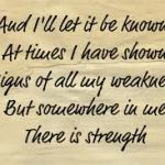 strength within me