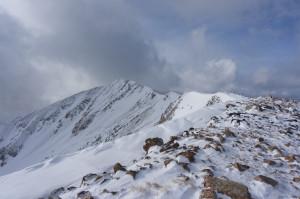 Cold ridge to the summit