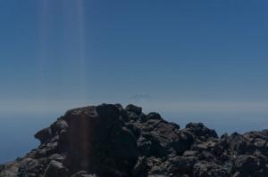 Ghost of Rainier behind summit