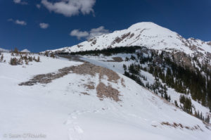 North Truchas from saddle