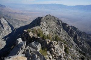 View back down lower ridge