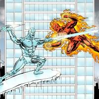 Human Torch vs Iceman