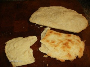 flat bread made by dough