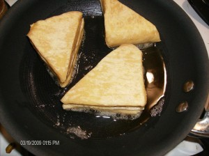 cooked triangles